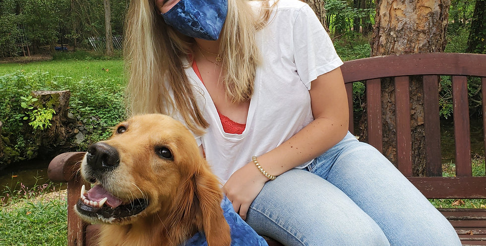 Ice-Dyed Face Mask by Good Karma Threads