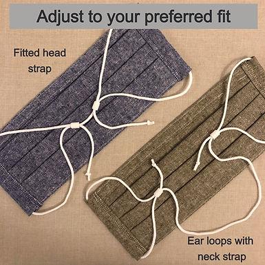 Unisex Keeper Mask (Adjustable ear loops!)