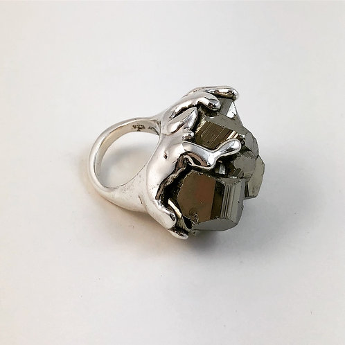 Free form Pyrite Ring