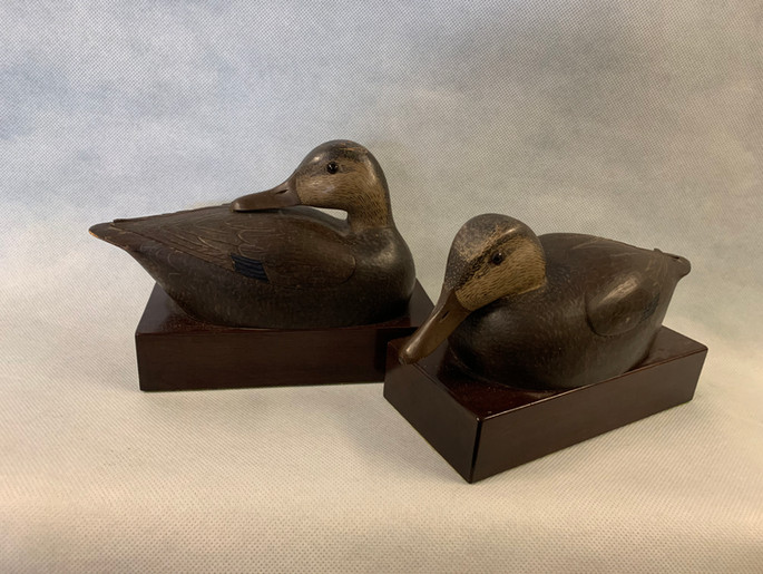 Black Duck Decoy Bookends