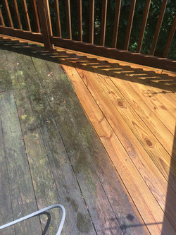 Deck Cleaning With Care
