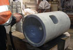Solid Carara Marble Hand basin in production_02.JPG