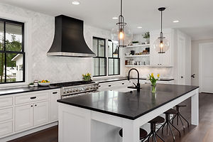Beautiful Kitchen in New Luxury Home. Fe