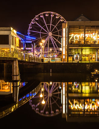 Bristol harbour by night