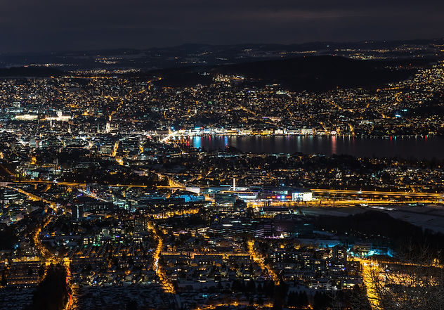 Zurich Zürich by night
