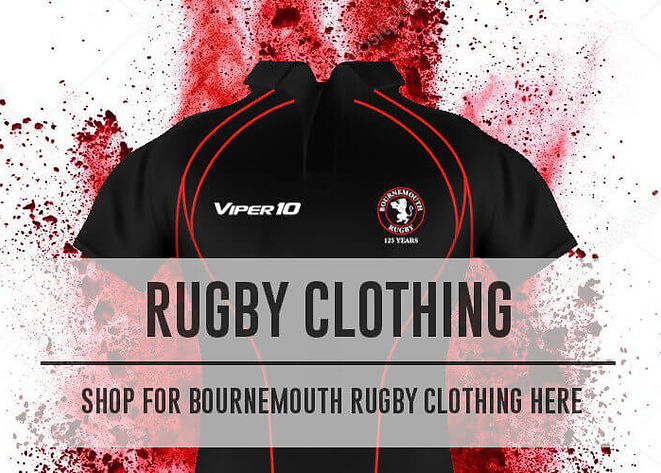 Viper 10 clothing, Bournemouth Rugby Kit