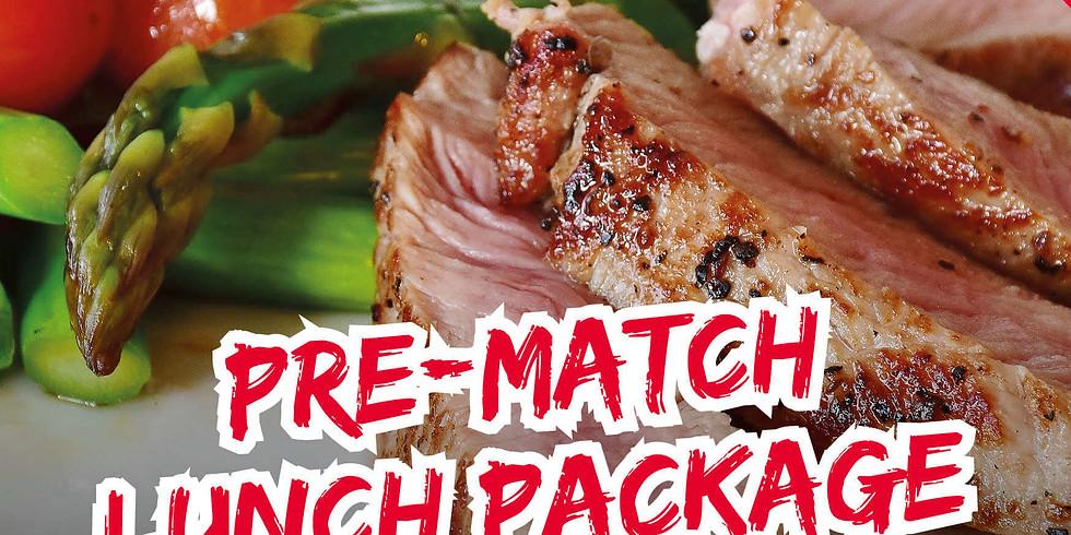 Pre Match Lunch - vs Brixham