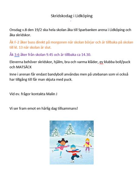 Skridskodag i Lidköping 19 februari