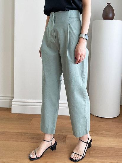 夏季高腰西裝褲