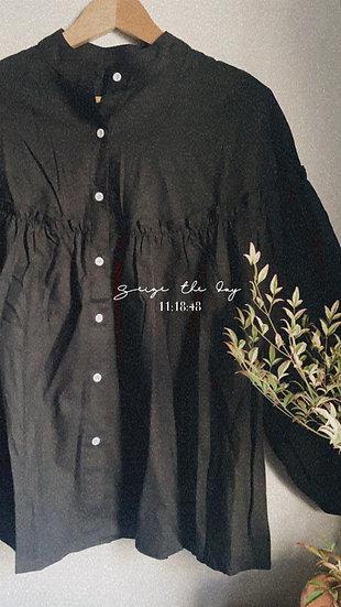 日系浪漫排釦襯衫