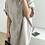 Thumbnail: 米麩色短袖長版襯衫外罩