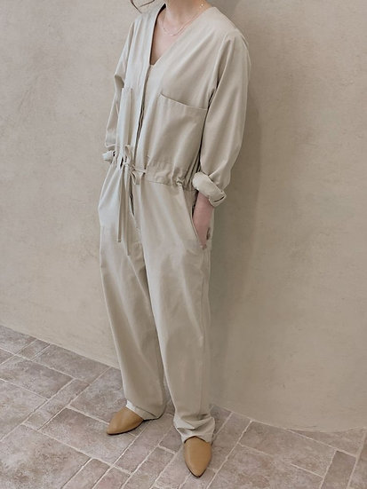 天絲棉法式連身褲裝