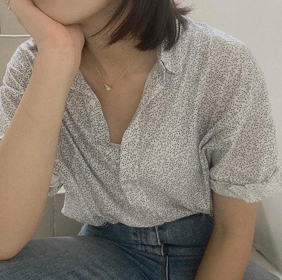 捲袖花襯衫