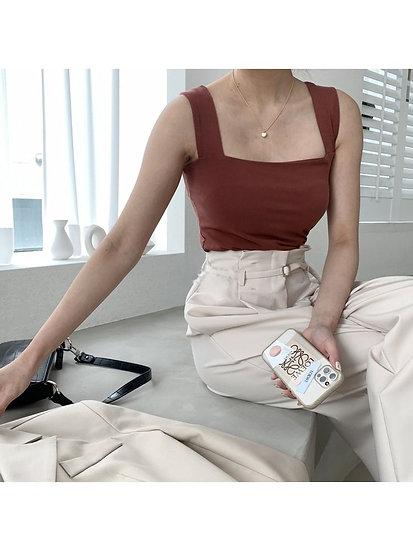工字形棉質背心