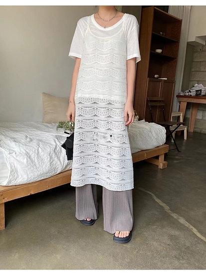 細肩針織背心裙