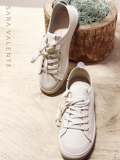 牛皮運動休閒鞋