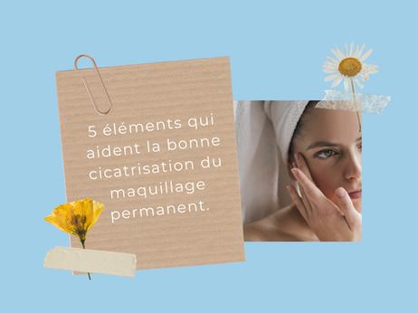 5 éléments qui aident la bonne cicatrisation du maquillage permanent.