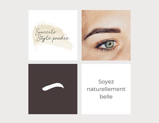 Sourcils Style Poudre