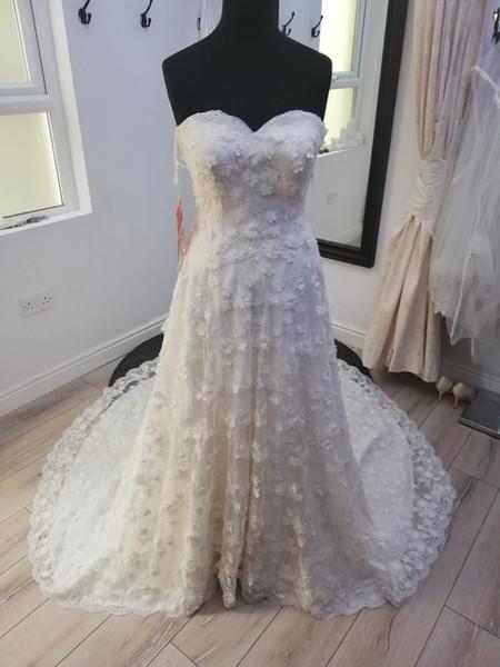 A-line Lace Wedding Dress Shortened