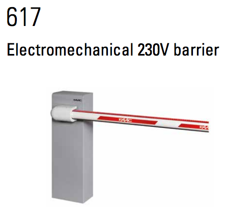 FAAC Barriers Series 617 Electromechanical 230V barrier