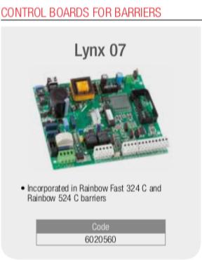 Genius Barrier Control Board Lynx 07 ( Rainbow)
