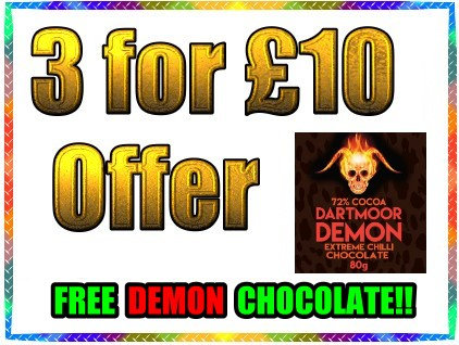 3 FOR £10 Offer with FREE DARTMOOR DEMON