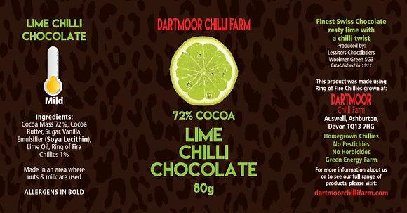 Lime Chilli Chocolate, 72% cocoa, 80g bar