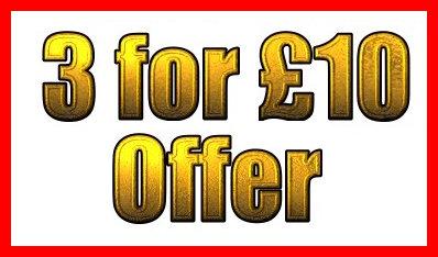 3 FOR £10 Offer