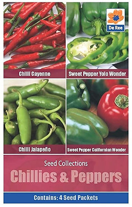 Chillies & Peppers - 4 Seed Packets Collection