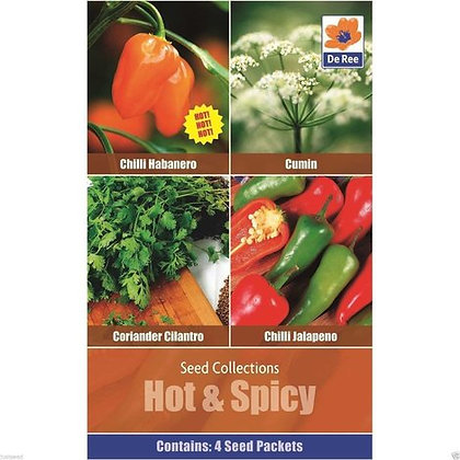 Hot & Spicy - 4 Seed Packets Collection