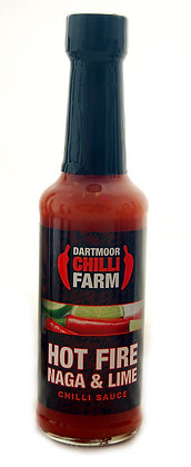 Hot Fire Naga and Lime Chilli Sauce, 150ml