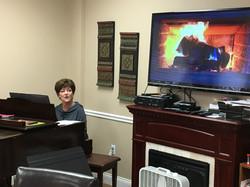 Karen Rhodes playing piano