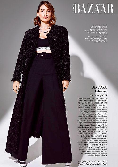 Harper's Bazaar Arabia - DD Foxx - No Da