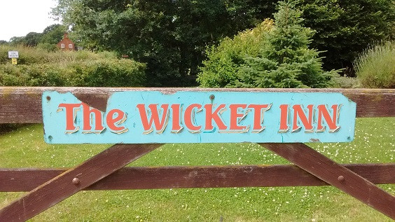 Sign for the Gate or Wicket Inn in Lea Heath.