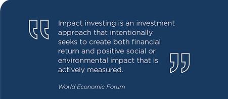 Impact investing, investment, impact