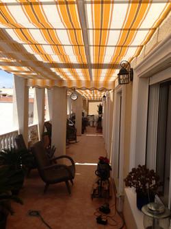 Soltak på balkong