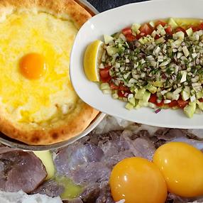 peynirlipide, çoban salata, kavurmalıpide