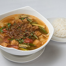 S5 Sweet and Sour Soup-Choose meats)