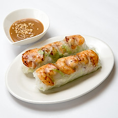 A4 Fresh Spring Roll with Grilled Shrimp (2)