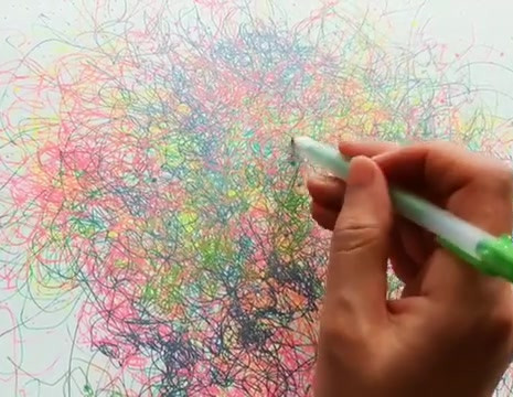 The Cosmic Web (or Rainbow Confetti Multiverse Drawings)