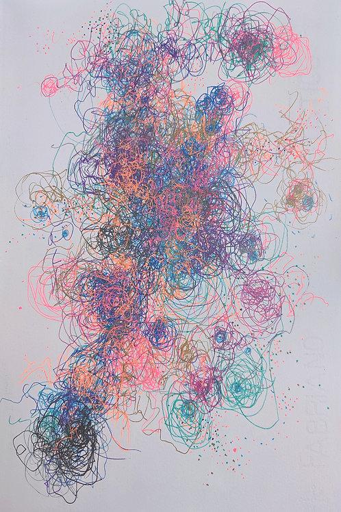Rainbow Confetti Multiverse #60  (String Theory Edition)