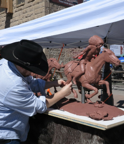 tanner loren, westen art, bronze sculpture, cowboy art, sculptue, cody wyoming, western sculpture, art, native amerian sculpture, native american broze