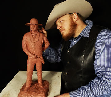 tanner loren, westen art, bronze sculpture, cowboy art, sculptue, cody wyoming, western sculpture, art,
