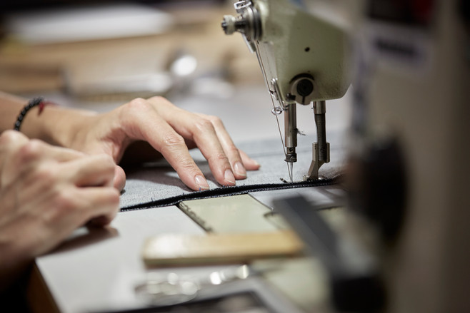Sewing of denim