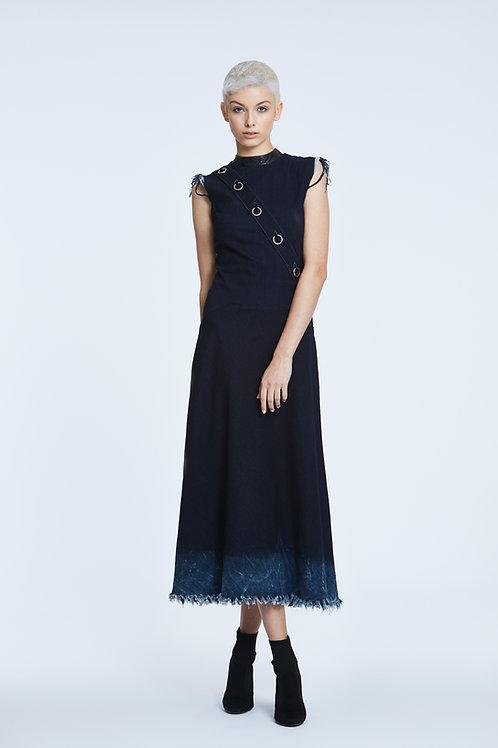 ESTHEBAN Dark Denim Dress