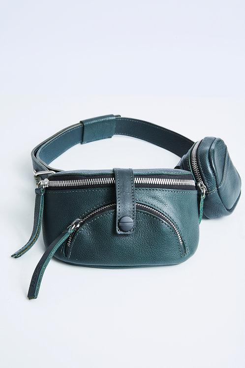 Leather Beltbag Dark Green