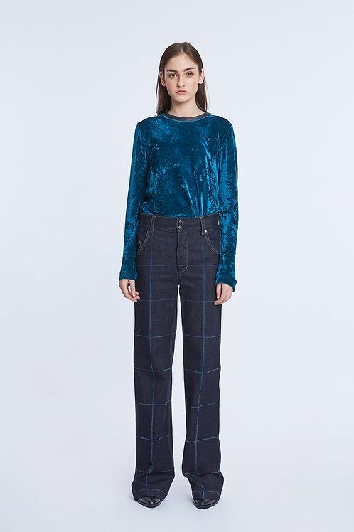 DORIS Checked Jeans