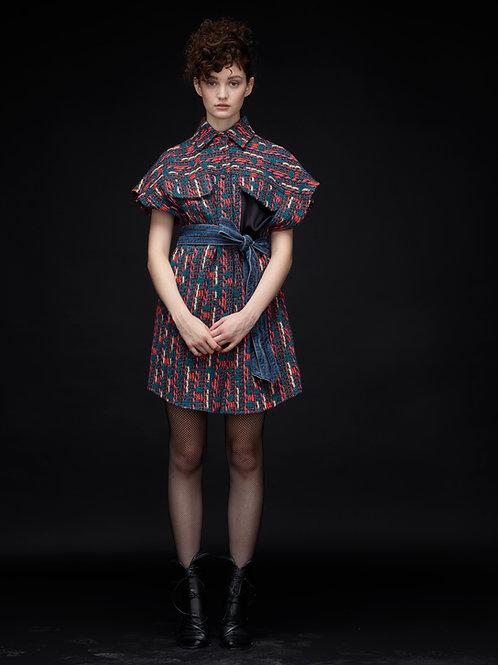 ROLA Jacquard Shirt Dress