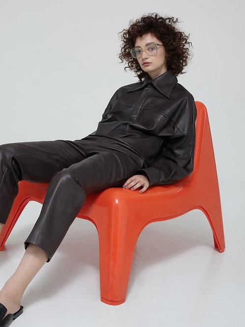 PAVLA Leather Shirt