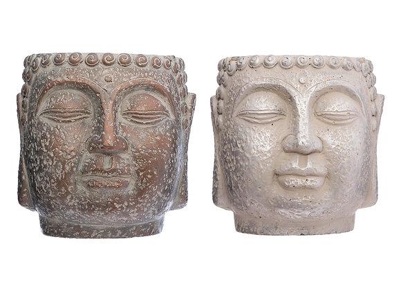 Buddha Cement Pot x 2